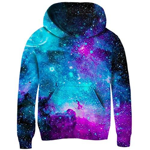AIDEAONE Jungen Mädchen Galaxy Fleece Pullover Jacke Pullover Sweatshirts mit Taschen