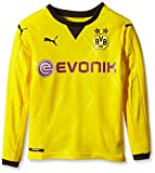 PUMA Kinder Trikot BVB Ambassador Long Sleeve Replica Shirt, Cyber Yellow/Black, 152, 748007 01