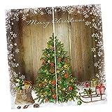F Fityle Weihnachten Vorhang Schal Verdunkelungsvorhang Verdunklungsstoff Blickdicht - Dekorativer Weihnachtsbaum