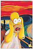 Artopweb Pannelli Decorativi The Simpsons Homer l'Urlo Quadro, Legno, Multicolore, 60x1.8x90 cm