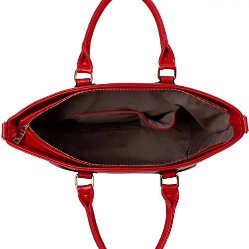 LeahWard® Damen Mode Essener Berühmtheit Tragetasche Modisch Schnell verkaufend Kreuzkörper Handtasche Mit langem Bügel CWS0085 CWS0085A CWS0085B CWRL150513 Rot