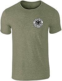 Pop Threads Camiseta de manga corta para hombre, diseño del equipo nacional de Alemania, estilo retro