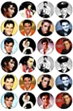 24 Elvis Presley Edible Wafer Paper Cup Cake Toppers