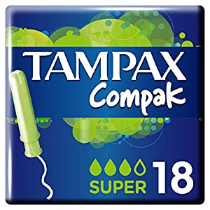 Tampax Compak Super Tampons with Applicator