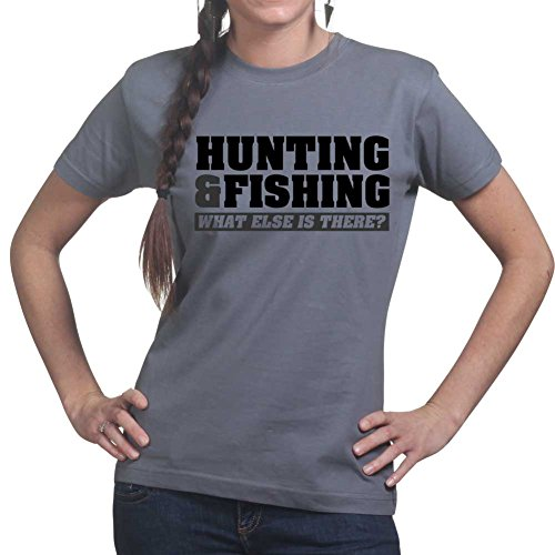 Hunting Hunter Deer Duck Shooting Camo Gun Rifle Ladies T shirt
