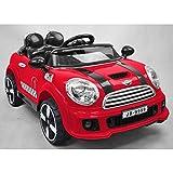 Auto Elettrica Mini Cooper Colore Rosso 12V con Radiocomando