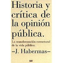Historia y crítica de la opinión pública: La transformación estructural de la vida pública