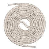 Mount Swiss runde Premium-Schnürsenkel aus 100% Baumwolle - sehr reißfest Farbe Hellbeige Länge 140cm