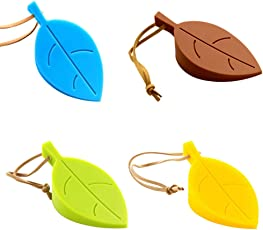 Store2508 (Pack of 4) Silicone Leaf Shape Home Office Door Stop Stoppers Block Wedge Doorstops