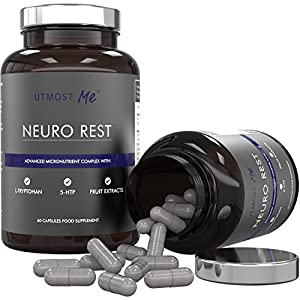 5-HTP, L-Tryptophan, L-Taurine, Chamomile, Biotin, Magnesium & Fruit Extracts | Neuro Rest - High Strength All Natural Sleep & Anxiety Relief Supplement | Avoid Sleeping Pills, Sedatives & Medication | Proven Synergy Blend Without Side Effects Of Too Much 5HTP | 100% Money Back Guarantee (1 x Neuro Rest (30 Day Supply))