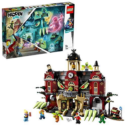LEGO 70425 Hidden Side Haunted High School Construction Set, AR Games App, Interactive Augmented Reality Ghost Hunt for iPhone/Android