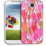 Snoogg Corazones de Color de la luz Funda Carcasa de diseño para Samsung Galaxy S4i9500