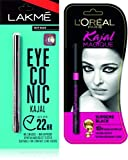 #9: Lakme New Deep Dark +L'oreal Paris Kajal Magique, Black, 0.35g