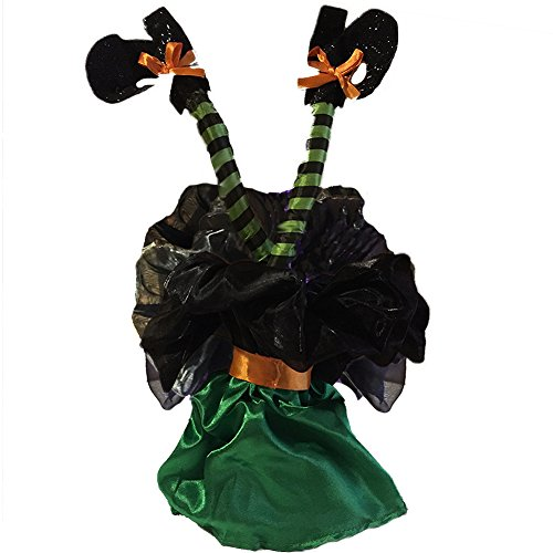 Halloween Animierter Kicking Hexe legs-sound aktiviert 16 inch-green