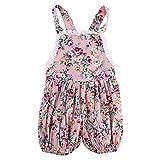 Neugeborene Baby Mädchen Ärmelloshirts Spielanzug Spieler Blumen-Druck Bodysuit Overalls Outfits Säugling Jumpsuits Schlafanzug für 0-24 Monate, Geschenk für Neugeborene (24 Monate, Rosa)