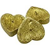 Skycandle Golden Heart Floating Water Candles,Pack Of 3