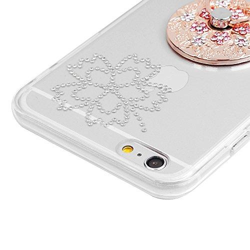 """iPhone 6/6S Hardcase YOKIRIN iPhone 6/6S (4.7"""") Schutzhülle Glitzer Rhinestone Case Hartschale Handyhülle Sparkle Bling 3D Diamant Strass Tasche Skin Schale TPU Silikon Radmen+PC Backplane Clear Krist Muster"""