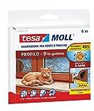 Tesa 05393-00111-00 Gummidichtung für Fenster und Türen, D-Profil, Braun