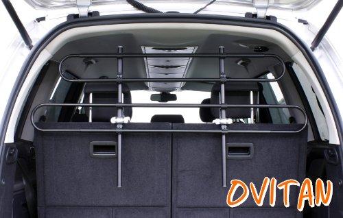 OVITAN Hundegitter XL fürs Auto 4 Streben universal zur Befestigung an den Kopfstützen der Rücksitzbank - für alle Automarken geeignet - Modell: H04XL -