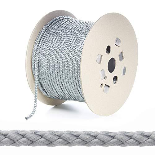 Kalsi Cords Polypropylen-Seil, 7 mm, rund, geflochten, stark, 8 Farben und 5 Längen Größen -