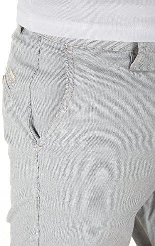 Yazubi Herren Chino Shorts Aiden gemustert Blau (Flint Stone 183916)