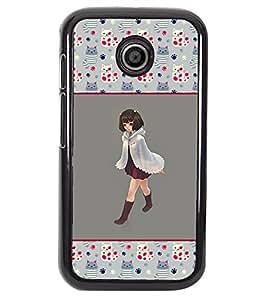 Fuson 2D Printed Girly Designer back case cover for Motorola Moto E - D4267