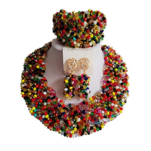 laanc-nigerian-beads-crystal-necklace-bracelet-earrings-jewelery-mixed-color-african-jewellery-sets