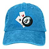 Aoliaoyudonggha Poker and Dices Denim Baseball Caps Hat Adjustable Cotton Sport Strap Cap for Men Women