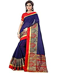 DIEGO New Collection Cotton Silk Saree For Women (With Attractive JACQUARD PATTERN WITH SATIN BORDER)