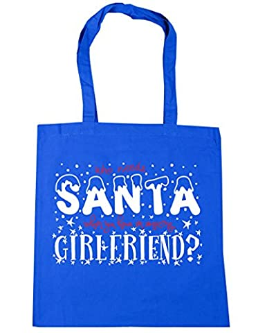 HippoWarehouse Who Needs Santa When You Have an Amazing Girlfriend Tote Shopping Gym Beach Bag 42cm x38cm, 10 litres