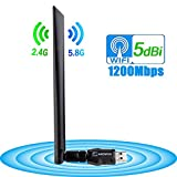 ANEWISH Wireless USB Wifi Adapter 1200Mbps, USB 3.0 Network Lan Card with 5dBi