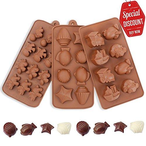 svebake silicona chocolate Forma–Silicona Forma F ¨ ¹ r Chocolate establecer & Chocolate SCH ¨ Fundidas ¹ ssel marrón