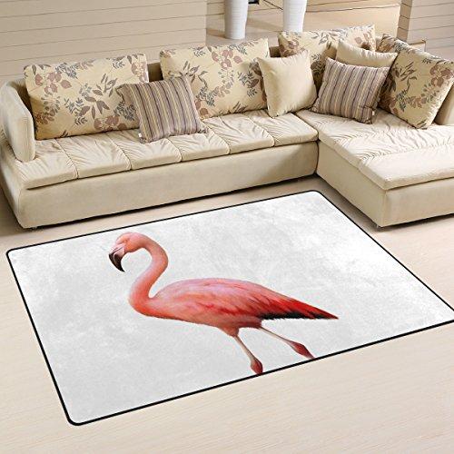 bennigiry Pink Flamingo rutschfeste Bereich Teppich Pad Teppichunterlage für harte Böden, rutschfeste Teppich Matte Teppich Untergrund für Wohnzimmer Schlafzimmer 152x 99cm (152,4x 99,1cm)