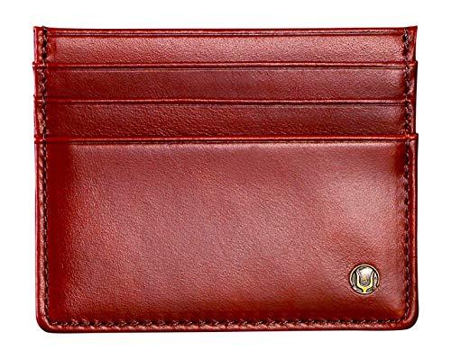 Cronus & Rhea Kartenhalter aus exklusivem Leder (Argos) | Kartenetui - Kreditkartenetui - Kartenhülle - Ausweishülle | Echtleder | Mit eleganter Geschenkbox | Herren - Damen (Dunkelbraun)