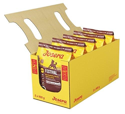 JOSERA Festival (5 x 900 g)   Hundefutter mit leckerem Soßenmantel   Super Premium Trockenfutter für ausgewachsene Hunde   5er Pack