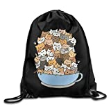 FAFANIQ Classic Sika Deer Drawstring Bags ypack for Activity,Work,Basketball,Running
