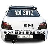 Abi 2016 2017 2018 .. Autotattoo Heckscheibe Aufkleber Größe: Größe 1