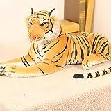 Landingstar Robusto Peluche Tigre Juguete Animal Gigante Muñeca Almohada con Relleno Refuerzo Niños Regalos (None M Amarillo)