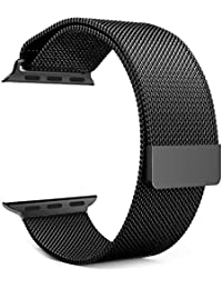 House of Quirk 42Mm Milanese Magnetic Closure Replacement Band Iwatch Series 3 Series 2 Series 1 (Black)