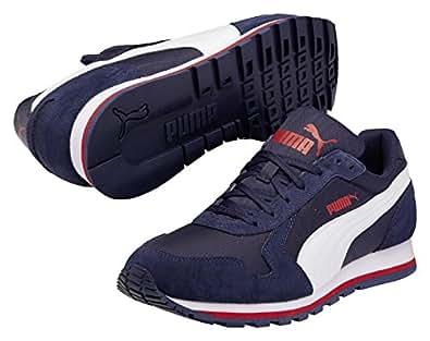 Puma St Runner Nylon, Baskets mode homme - Bleu (Peacoat/White), 36 EU (3.5 Erwachsene UK) EU