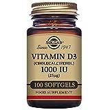 Solgar Vitamin D3 (Cholecalciferol) 1000 IU Softgels, 100 S Gels 1000 IU