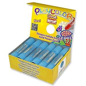 Playcolor Basic One - Póster de Pintura, 10 g, Color Azul Claro