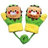 Moolecole 1 Paire D'hiver Bébés Garçons Et Cartoon Bébés Filles Gants Molleton Gants Unisexe Enfants Lion