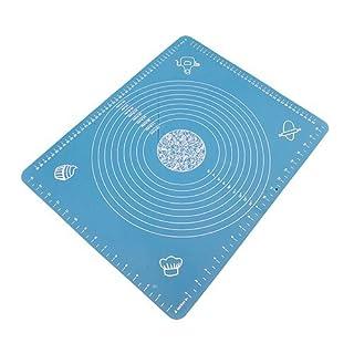 Ancdream Große Silikon Matte Backmatte Maßeinheiten Ausrollmatte 50*40CM Blau