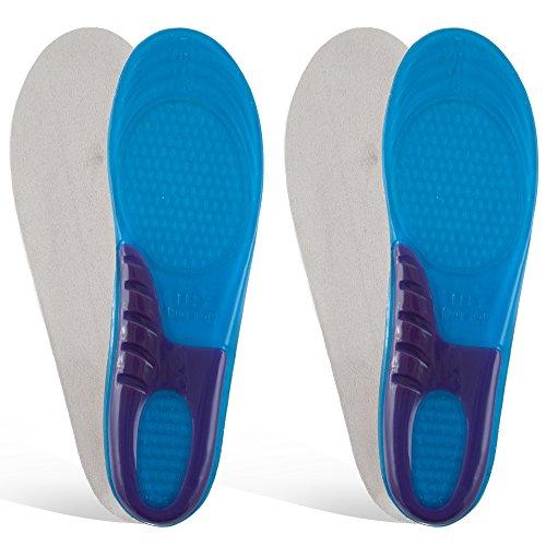 2 Paare Gel Einlegesohlen Schuheinlagen Fußbett Orthopädische Silikon Einlagen Gr. 35-47 (42 - 47) (Fußbett-einlegesohle)