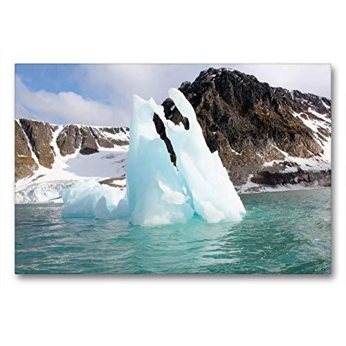 Calvendo Premium Textil-Leinwand 90 cm x 60 cm quer, EIN Motiv aus dem Kalender Schönes Svalbard | Wandbild, Bild auf Keilrahmen, Fertigbild auf echter Leinwand, Leinwanddruck Natur Natur