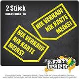 Kiwistar Nix, Nix Karte, Meins! 8X 6 cm IN 15 Farben - Neon + Chrom! Sticker Aufkleber