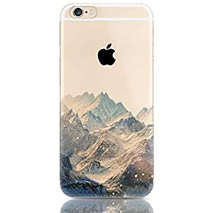 Sunroyal® Etui Transparent élégant Apple iPhone 5/5S TPU Gel Coque Silicone Shell Housse 3D Case