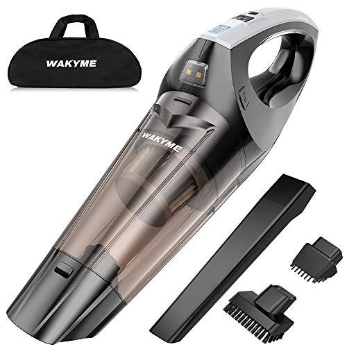 WAKYME Aspiradora de Mano, 9KPA Aspirador Mano Sin Cable Potente, Carga rápida USB Aspiradoras en Seco...