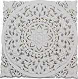 DRW Mandala Madera Cuadrado Blanco 50 x 50 cm
